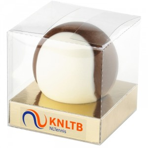 Chocolade tennisbal, chocolade tennis